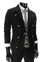 mens jogal casuale doppio petto alto collo slim fit giacca corta giacca sportiva