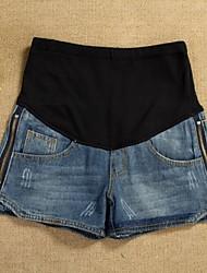 Pantalones de maternidad ( Mezclilla ) Medio - Inelástica - Pantalones Cortos