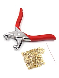 DIY Grommet Eyelet Pliers Hand Tools Kit Setting With 100pcs Eyelets For Shoes Fabric Paper Bags Leather Belt