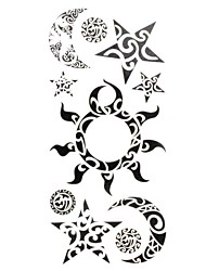 1pc New Chic Waterproof Temporary Tattoos Wrist/Neck/Arm/Leg Tattoos Sun Moon Star Body Tattoos(18.5cm*8.5cm)
