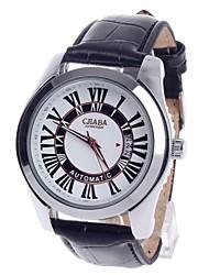 CJIABA GA9016 Roman Numeral Dial Automatic Mechanical Men's Wrist Watch