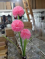 Trois têtes hyfrangeas roses fleurs artificielles set 2