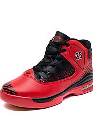Basketball Herren Schuhe Leder Schwarz / Blau / Rot