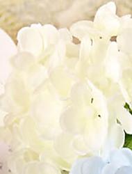 trois hyfrangeas White Head fleurs artificielles set 2