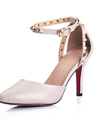 Women's Shoes Leather/Calf Hair Stiletto Heel Heels/Pointed Toe Pumps/Heels Party & Evening Shoes More Colors available