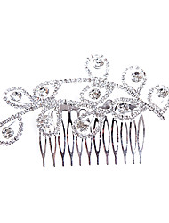 Alloy Hair Combs With Rhinestone Wedding/Party Headpiece