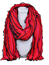 D Exceed   Women Star Style Personality Necklace Scarf Multilayer Color Patchwork Chiffon Long Scarves