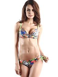 estampado de flores bikini conjunto liga