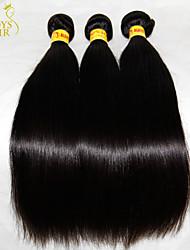 "4 Pcs Lot 8""-30"" Unprocessed Raw Virgin Malaysian Straight Hair Wefts Natural Black Human Hair Weave Bundles Tangle Free"