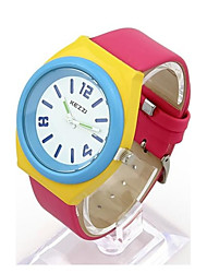 Women's  Circular Simple Candy Color Fashion Belt Watch(Assorted Colors)