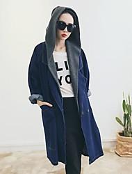 moda casaco denim solta das mulheres sanfenzise