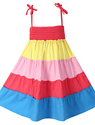 Girl's Fashion Colorful Bohemia Beach Dresses Party Kids Clothes Lovely  Princess Dresses