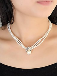 Necklace Strands Necklaces Jewelry Party / Daily / Casual Fashion Pearl White 1pc Gift
