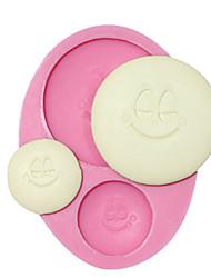 molde botões molde sorriso silicone decoração do bolo para o artesanato de fondant de chocolate de chocolate jóia argila resina pmc