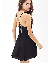 Women's Sexy/Beach/Casual/Party V Neck Dress