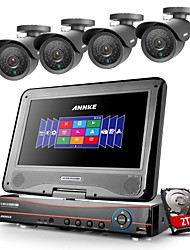 ANNKE® 8CH AHD DVR/HVR/NVR 4 800TVL Analogy 100ft IR CUT Night Vision Security Camera System(2TB HDD)