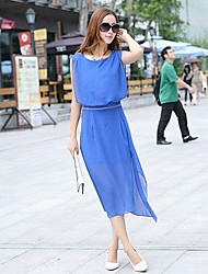 Women's Major Suit Sleeveless Chiffon Dress