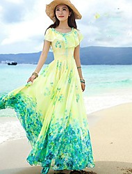 Women's Bohemian Dress Vacation Beach Dress