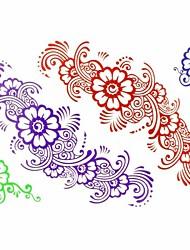 1pc New Design Temporary Tattoos Arm/Leg/Wrist Tattoos Colorful Flower Body Tattoos Fake Tattoos(17*16cm)