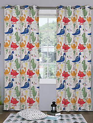Designer Two Panels Cartoon Kids Room Polyester Panel Curtains Drapes