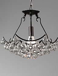 "14.6"" Pendant Light 1 Light Modern Black Pendant Light with Glass Pendants Metal Glass"