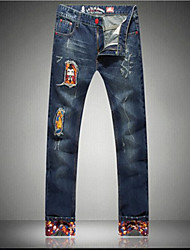 Herrenmode casual Roll-up lange Jeans
