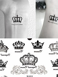 1 Pc Imperial Crown Tattoo Stickers Temporary Tattoos