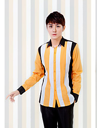 Shirts Classic (Semi-Spread) Long Sleeve Cotton/Polyester Stripes Multicolor