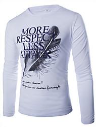Бен мужская повседневная стройная длинный рукав футболки