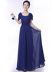 Floor-length Bridesmaid Dress A-line Off-the-shoulder with