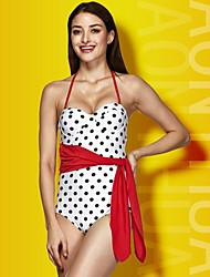 Women Hot Sexy Dot  One-piece Backless Swimsuit Swimwear