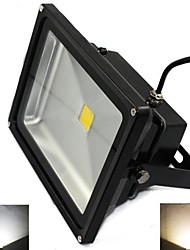 Black Waterproof 50W 5000LM 2800-7000K Cold White Light and Warm White Light LED Flood Lamp (AC85V-265V)