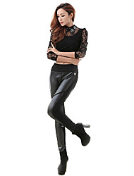 Women PU/Faux Leather Pants , Without Lining