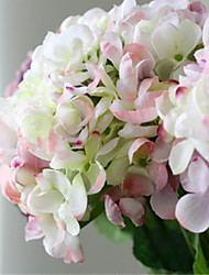 Luxo Grande hyfrangeas cor de rosa coloridas flores artificiais