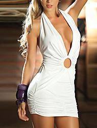 Costumes de Cosplay Uniformes Fête / Célébration Déguisement Halloween Blanc / Noir Robe Elasthanne