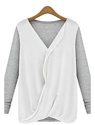 Informell Langarm - FRAUEN - T-Shirts ( Baumwolle )