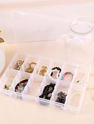 12-redes caixas de armazenamento de jóias de plástico transparente