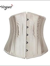 Burvogue Women's Champagne Bridal Spiral 24 Steel Boned Waist Training Corset Waist Cincher