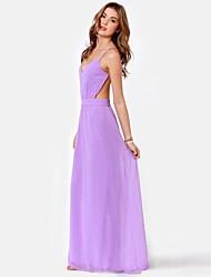 Women's Sexy Halter Chiffon Slim Dress
