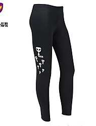 CLUBNEWS™Women's Cotton Black Fashion Love Fitness Pattern Sports Legging01