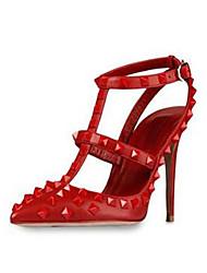 Stiletto Damenschuhe - Pumps/Heels Schwarz/Rot/Weiß/Mandelfarben )