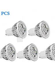 5W GU10 Spot LED MR16 4 LED Haute Puissance 380 lm Blanc Chaud / Blanc Froid Gradable AC 100-240 V 5 pièces