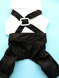 Dog Pants Black-White Summer Wedding / Cosplay