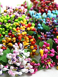 100pcs Colorful Grass Bead For Scrapbooking DIY Craft Decoration Bridal Bouquets Garland Accessories (More Colors)