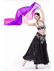 Stage Props Women's Performance / Training Silk 1 Piece Multi-color Belly Dance / Yoga / Performance Spring, Fall, Winter, Summer