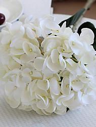 surdimensionnés hortensias sirène blanches fleurs artificielles set 2