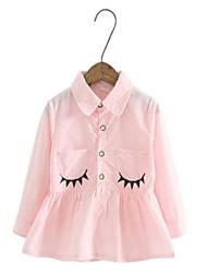 Girl's Fashion New Eyelash Printing Long Sleeve Shirt