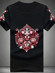 ronde kraag afdrukken met lange mouwen slanke t-shirts voor mannen (meer kleuren)