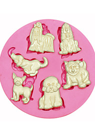 Multi Cute Pet Dog Silicone Mould Cake Decorating Silicone Mold For Fondant Candy Crafts Jewelry PMC Resin Clay