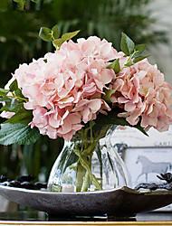 california carne hortênsias rosa flores artificiais com vaso
